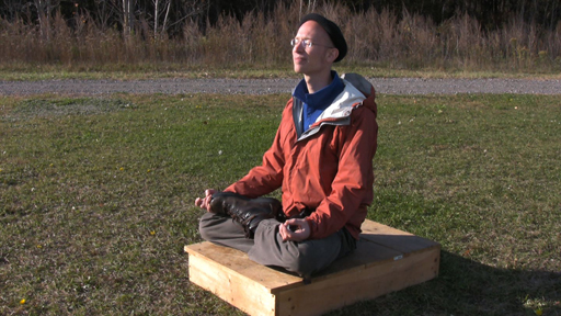Neil meditates as part of his Natural Dog Training regimen